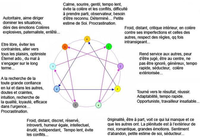 Ennéagramme, 9 classifications pour mieux se comprendre - vol. 1 - Projet la Passerelle