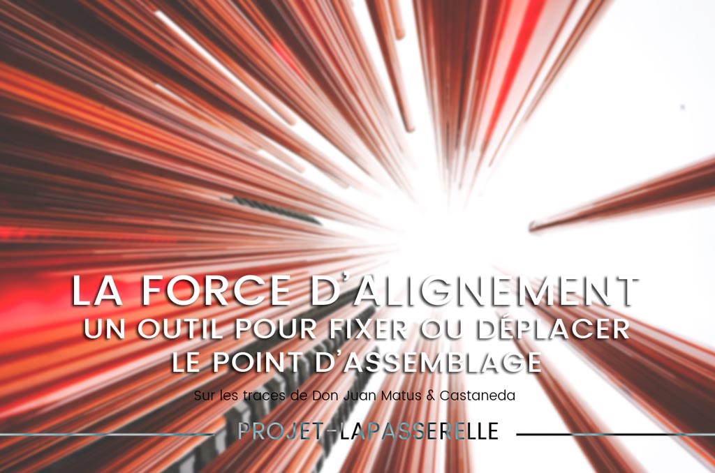 La force d'alignement, fixer ou déplacer le point d'assemblage
