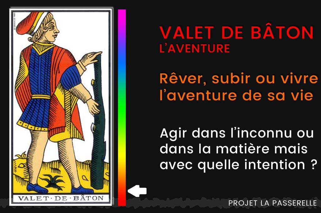 Read more about the article L'aventure dans le tarot d'Osho, le valet de Bâton : rêver, subir ou vivre ?